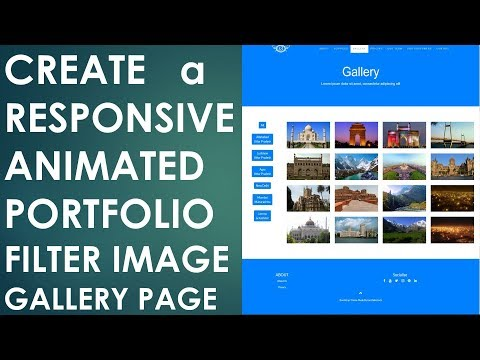 Create Animated Responsive Portfolio Filter Image Gallery using HTML5, CSS3 & Bootstrap | Example 3