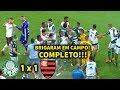 CONFUSÃO e BRIGA entre jogadores no empate de Palmeiras e Flamengo