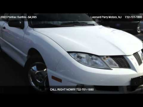 2003 pontiac sunfire for sale in point pleasant nj for Leonard perry motors nj