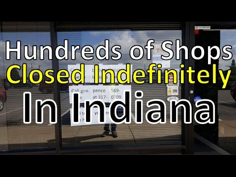 Hundreds of Businesses Suddenly Close in Indiana