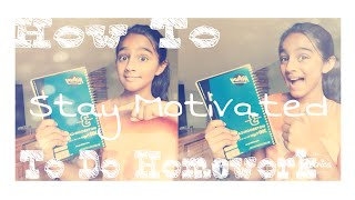 Motivation To Do Homework !?! - VVPEACECANADA Thumbnail
