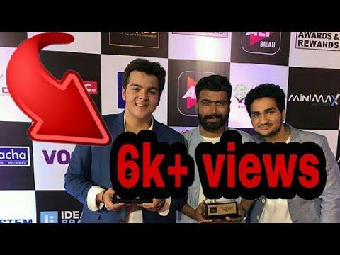 Ashish Chanchlani won the Best Actor award 2018|Must watch