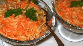 Салат с сельдереем Свежесть  Пошаговый рецепт