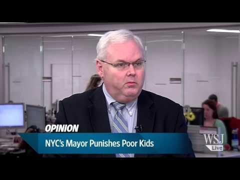 NYC's Mayor Bill de Blasio Punishes Poor Kids   WSJ Opinion