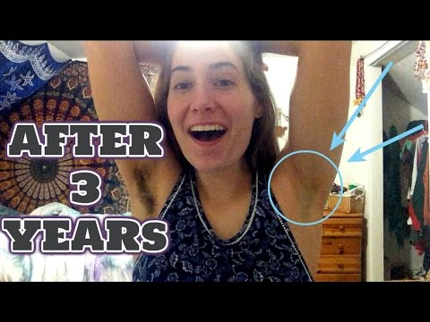 Shaving Armpits After 3 YEARS!