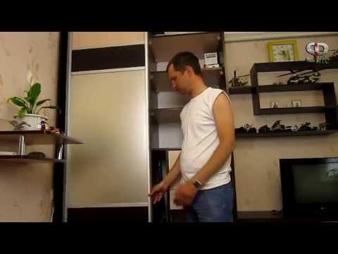 Стенка в гостинной с шкафом купе своими руками, обзор