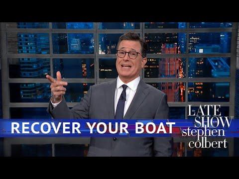 Stephen Colbert vs. Betsy DeVos' $40 Million Yacht Was Set Adrift