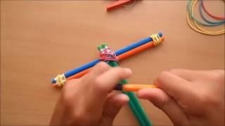 самоделка.как сделать арбалет из карандашей