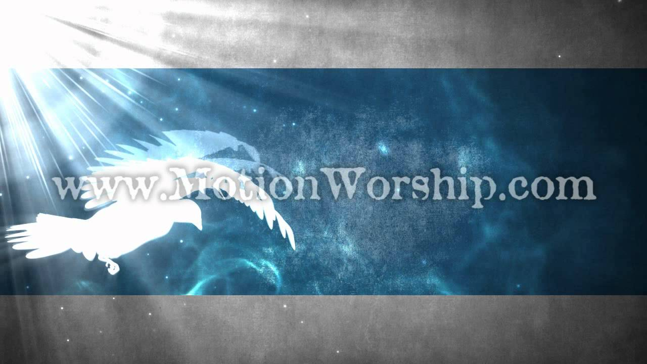 Holy Spirit Dove With Light Rays Seamless Looping