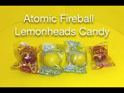 Atomic Fireball & Lemonheads Candy
