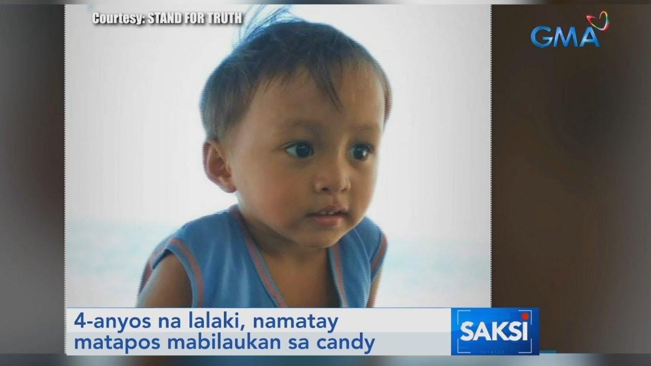 4-anyos na lalaki, namatay matapos mabilaukan sa candy   Saksi - YouTube