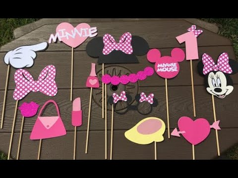 Minnie Mouse Theme Photo Props #SheenCreationsHighwayToCreativity