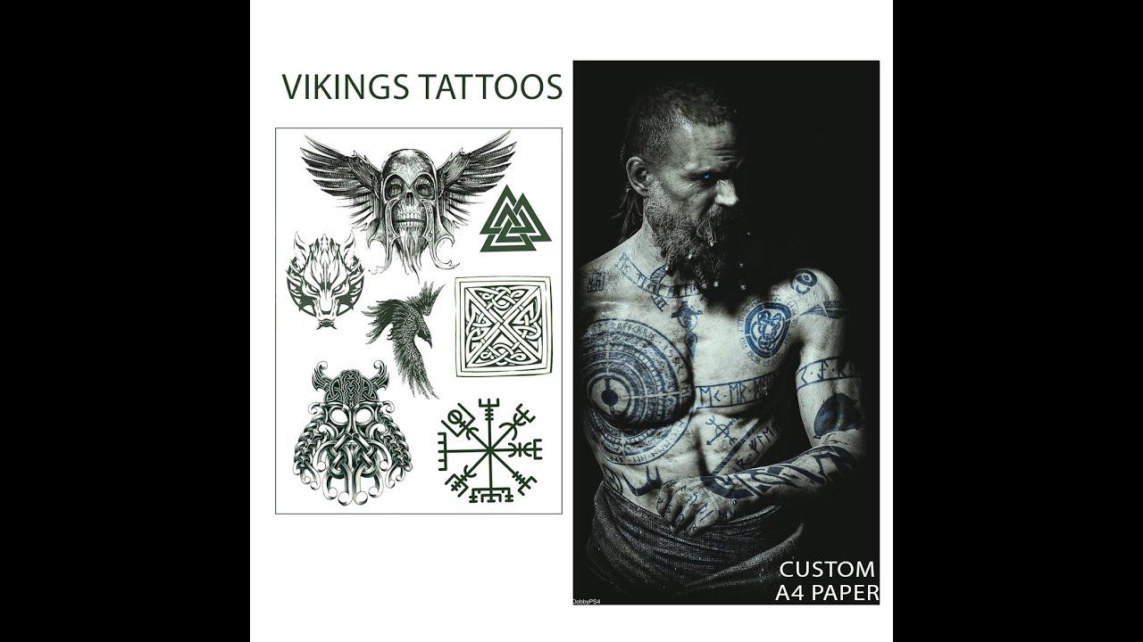 קעקועים זמניים לתחפושת אסירים ותחפושת וויקינגים viking tattoos, prison tattoos