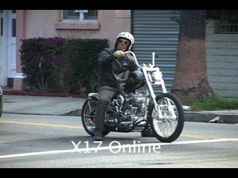 Brad Pitt Rolling On Two Wheels [2007]