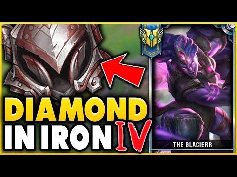 I TOOK MY ILLAOI INTO IRON 4 FOR THE FIRST TIME! DIAMOND ILLAOI VS IRON ELO! - League of Legends