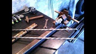 Самодельный станок , для скрутки квадратного прута , без токарных работ , своими руками.