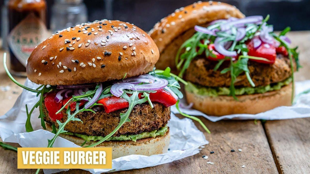 Easy Veggie Burger Recipe Vegan Healthy Blondelish Com