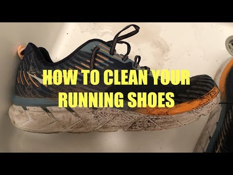How to Clean Your Running Shoes - Most Satisfying Video
