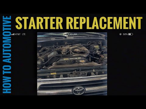 How to Replace the Starter on a 2000 Toyota 4Runner