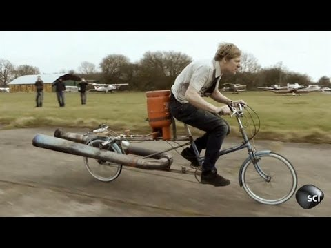 Jet Engine Bicycle Blasts Off | Outrageous Acts of Science