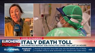 Italy death toll: authorities report 636 fatalities over the last 24 hours