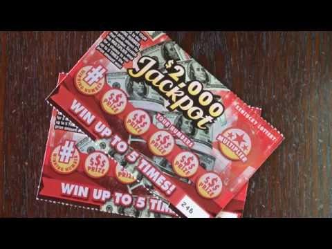 2 X $1 $2,000 Jackpot Kentucky Lottery Scratch Off Tickets - YT