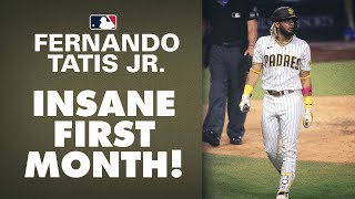 Padres ss fernando tatis jr. was absolutely incredible during the first month of season, smashing 13 home runs along with a slash line .313/.395/.660....