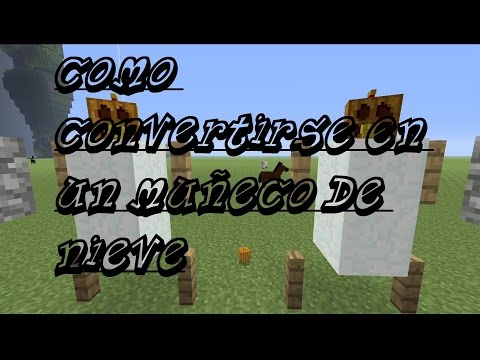 MINECRAFT TUTORIAL, COMO CONVERTIRSE EN UN MUÑECO DE NIEVE. xbox ,pc ,play ,ps vita