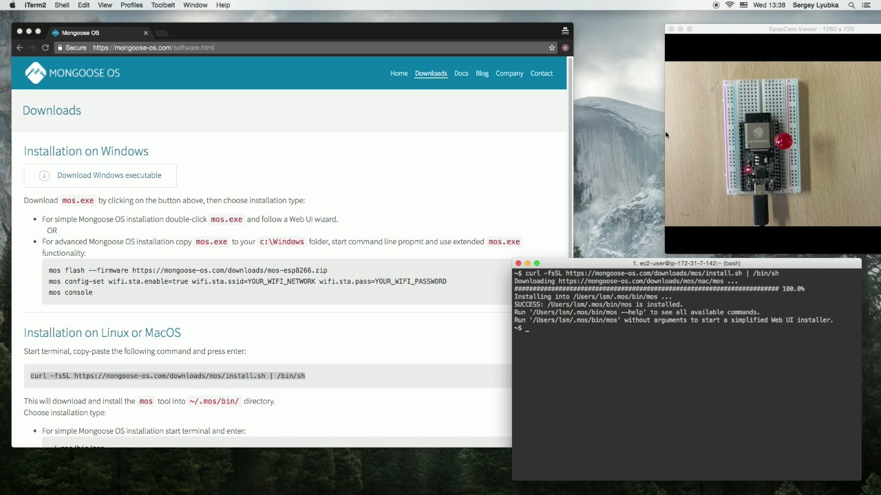 Mongoose OS #4: Installation (Linux/MacOS, Terminal)