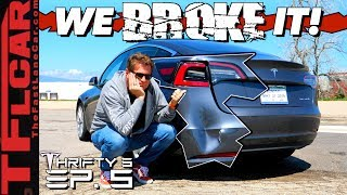 Download We Crashed Our Brand New Tesla & You Won't Believe How Much It Will Cost To Fix! Thrifty 3 Ep. 5 Mp3 and Videos