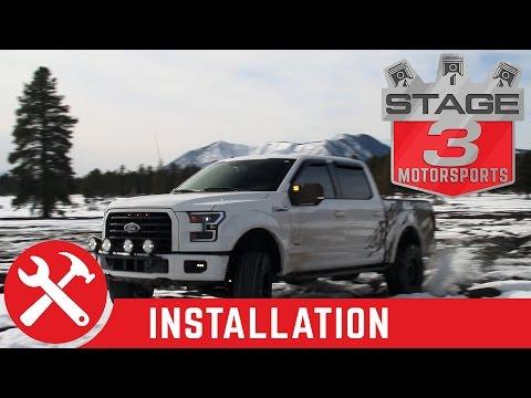 "2015-2017 F150 N Fab Light Bar with KC HiLites 6"" Pro Sport G6 Gravity LED Lights Install"