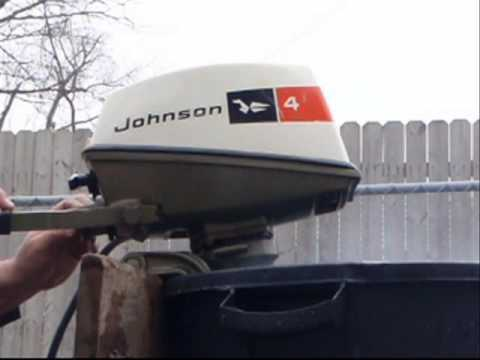 Johnson outboard 4hp  YouTube