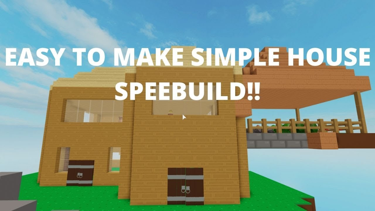 Speed Building A Cheap Simple House In Skyblock Roblox Youtube