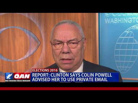 Clinton Says Colin Powell Advised her to use Private Email