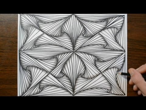 Pattern Doodle Sketch - How to Draw Line Illusions