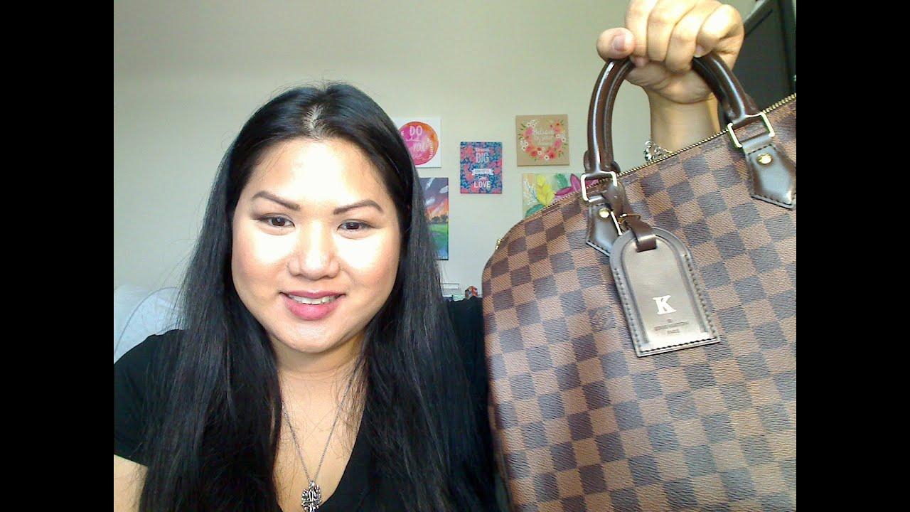 dde3609f1798 What s in my Bag  Louis Vuitton Speedy 35 Damier Ebene - YouTube