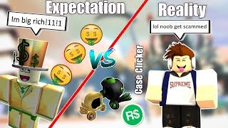 Case Clicker | Expectations vs Reality | Roblox Funny Skit
