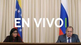 Rueda de prensa de Serguéi Lavrov y Delcy Rodríguez en Moscú
