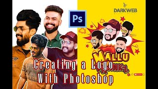 How To Use Pen Tool in Photoshop | Create a Logo With Pen Tool | Mallu Prankz | Mallu Prankz Logo