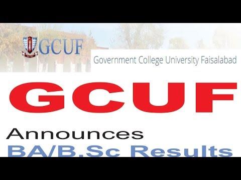 GCUF announces BA/B Sc results