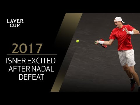 Isner on court interview after defeating Nadal (Match 11)   Laver Cup 2017