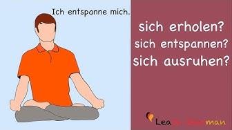 Learn German | Common Mistakes in German | sich erholen - sich ausruhen - sich entspannen? | B1