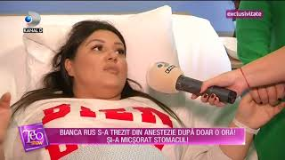 Teo Show (08.02.2018) - Bianca Rus si-a micsorat stomacul! Partea III
