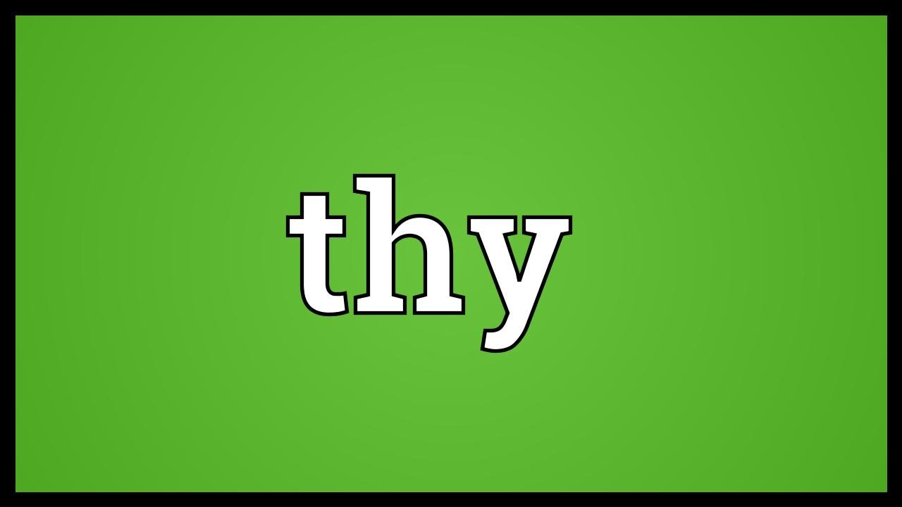 Thy Meaning Youtube