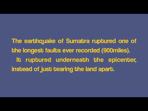 2004 Sumatra EQ and Indian Ocean Tsunami