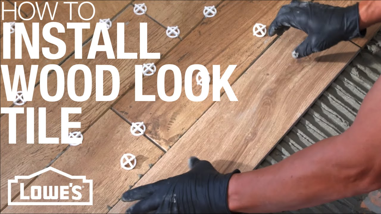 How to install wood look tile youtube doublecrazyfo Image collections