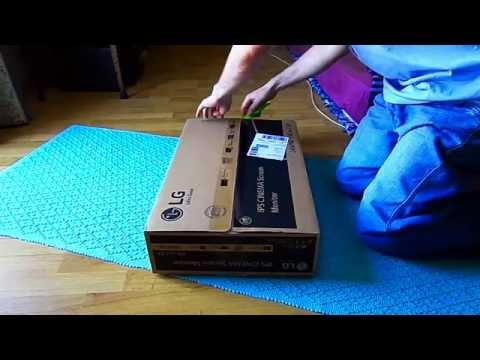 LG 24MP68VQ Unboxing - YouTube