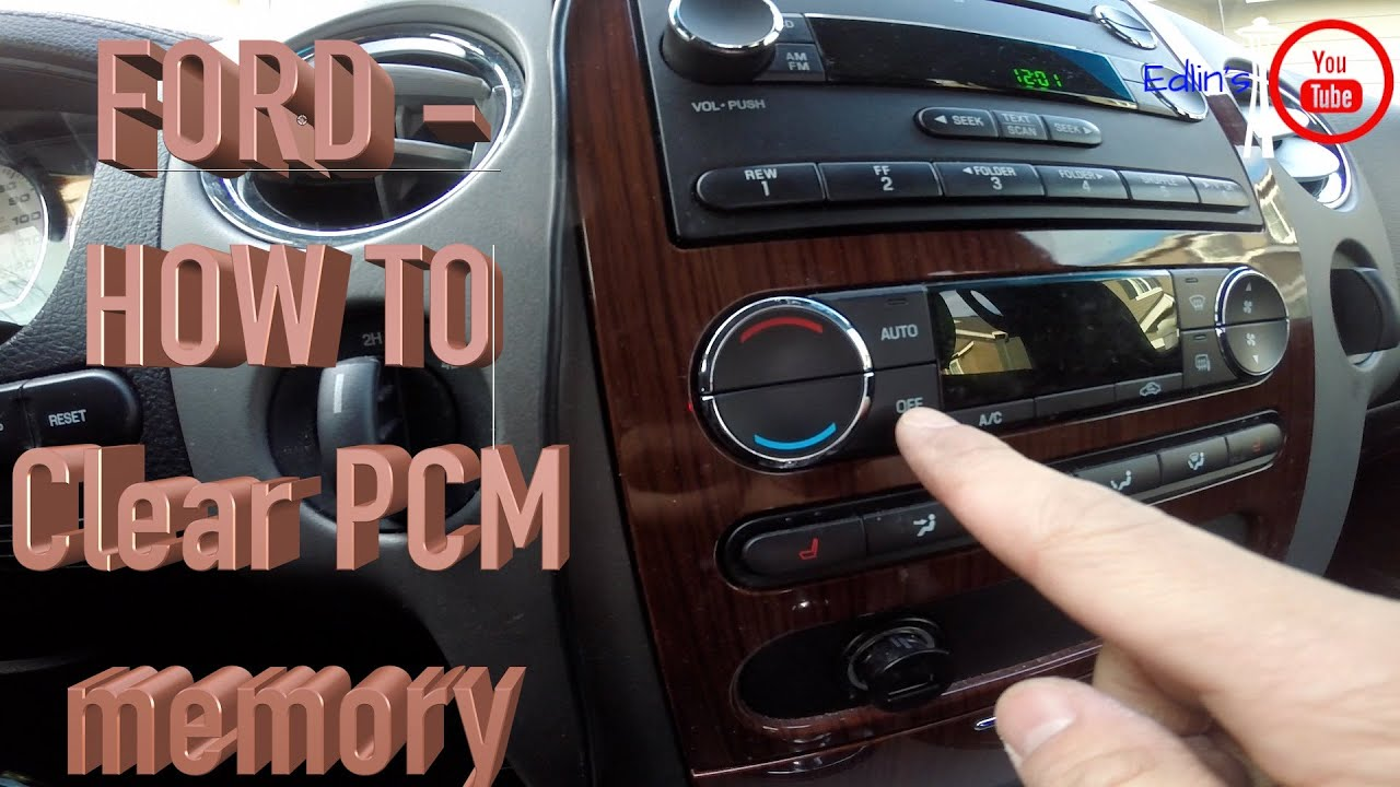 ford - clear  reset pcm memory