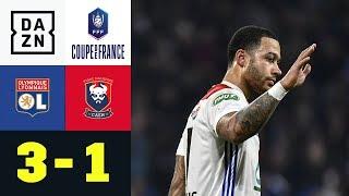 Memphis Depay beendet seine Tor-Krise: Olympique Lyon - SM Caen 3:1 | Coupe de France | DAZN