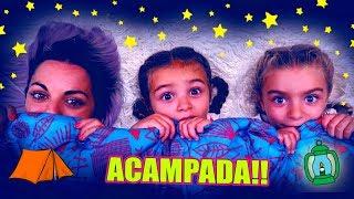 ACAMPAMOS ⛺ en CAMA ELÁSTICA por la NOCHE     Itarte Vlogs